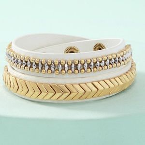 Gilded Path Double Wrap Bracelet